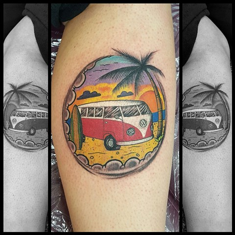 Bad Surfing Tattoo