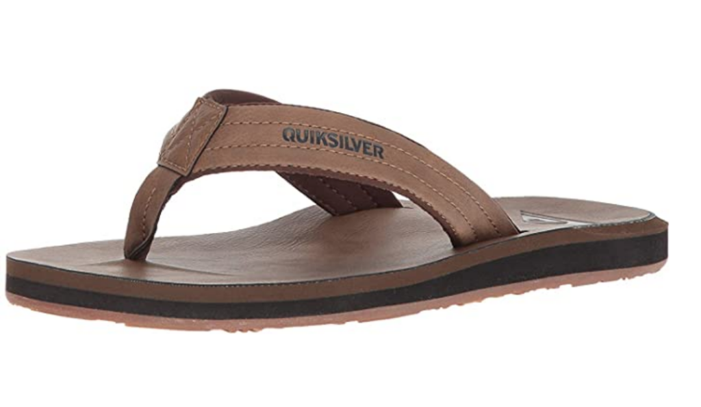Quicksilver men's leather tan sandals