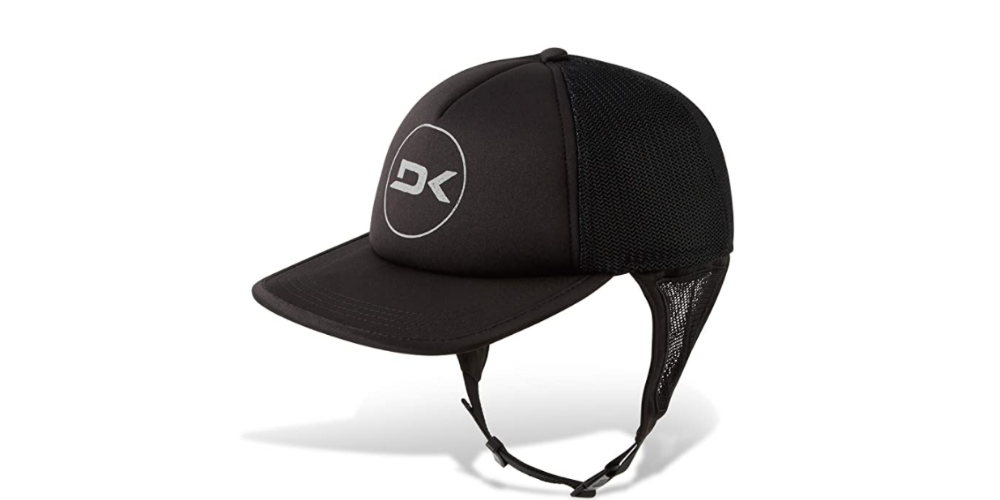 Surf cap with a strap