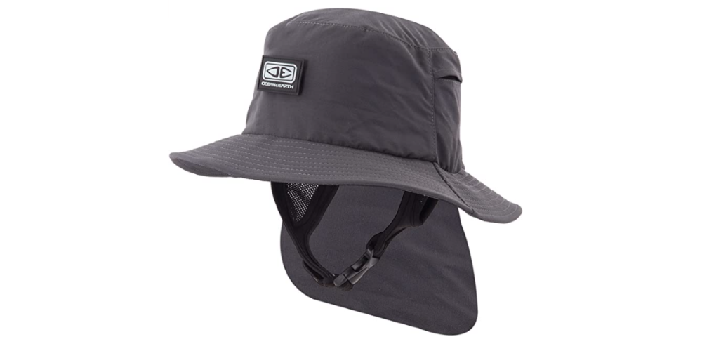 Surf hat with neck cover